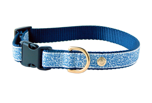 French Blue Ginger Jar Chinoiserie Dog Collar