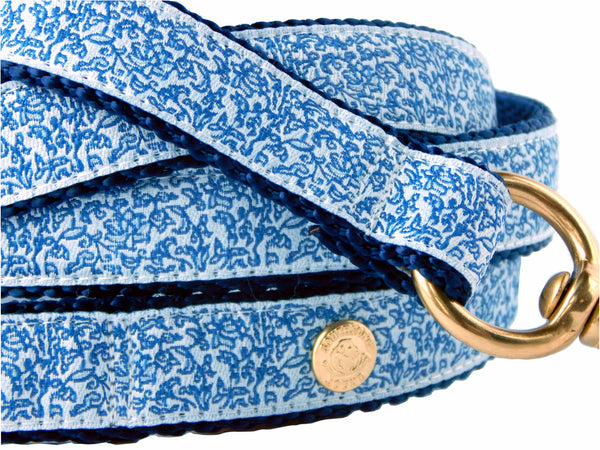French Blue Ginger Jar Chinoiserie Dog Leash