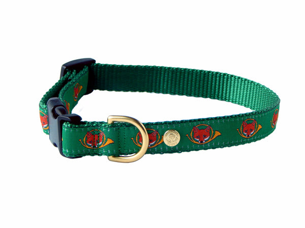 Fox Hunting Preppy Dog Collar