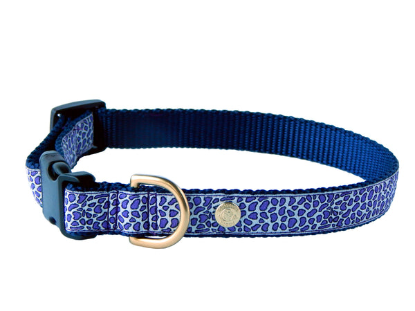 Periwinkle Cheetah Collar