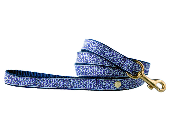 Periwinkle Cheetah Leash
