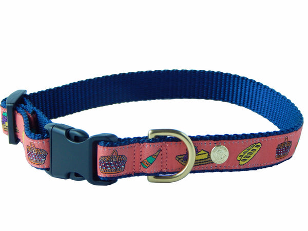 Picnic Champagne Preppy Fun Dog Collar