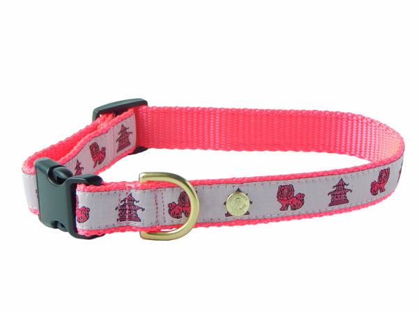 Pagoda Foo Dog Chinoiserie Preppy Dog Collar