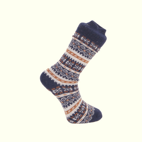 American Trench Fair Isle Navy Socks