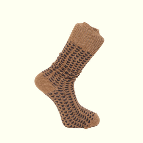 American Trench Pyramids Camel Socks