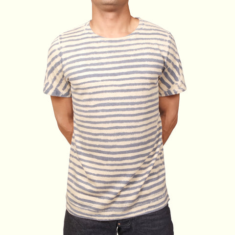 Jungmaven Baja T-shirt Thin Stripe Blue/Black Tea