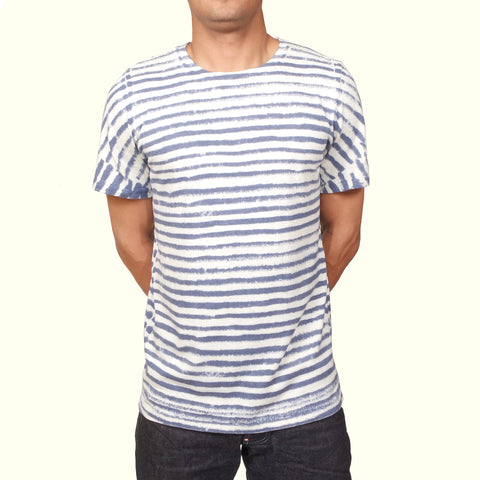 Jungmaven Baja T-shirt Thin Stripe Blue