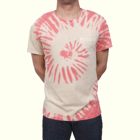 Jungmaven Baja T-shirt Elephant Swirl Red/Black Tea