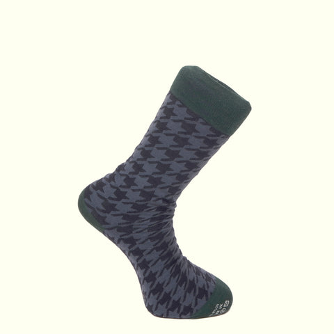 Corgi Pattern Socks Navy/Green