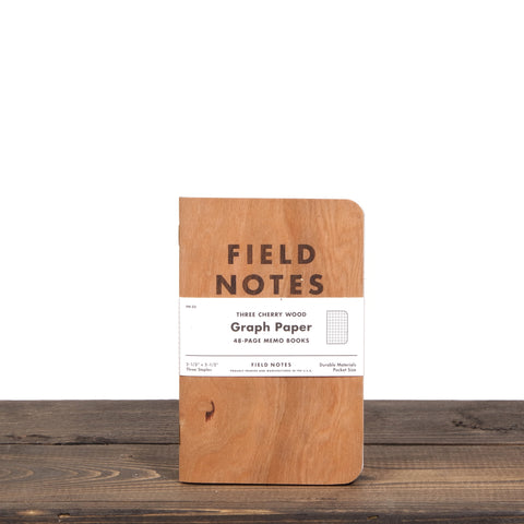 Field Notes Cherry Wood 3 Pack Graph