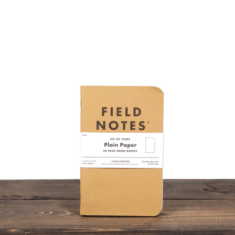 Field Notes Original 3 Pack Plain