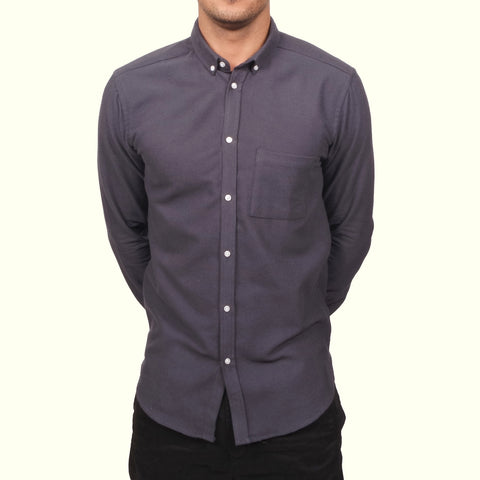 Journal Grit Reverse Cuff Shirt Grey