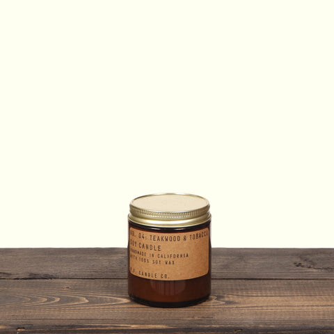 P F Candle Co 3.5 oz Teakwood And Tobacco