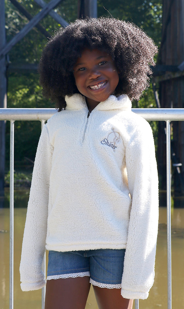 Spiral Skater 1/4 Zip Sherpa Pullover (Youth)