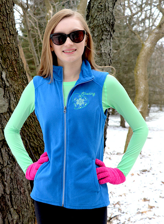 Snowflake Microfleece Vest (Ladies)