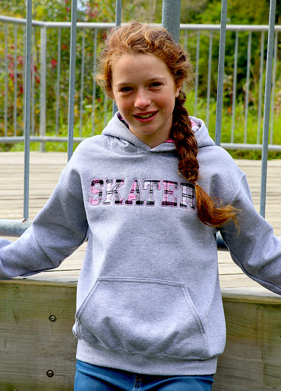 Skater Reverse Applique Hoodie (Youth)