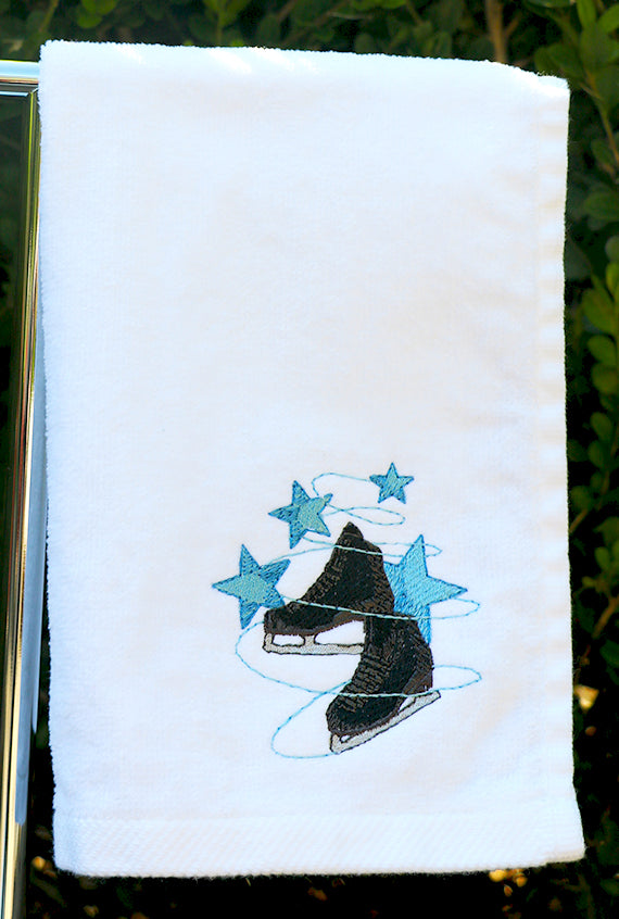 Black Skate with Stars Skating Towel