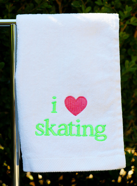 I Love Skating Towel