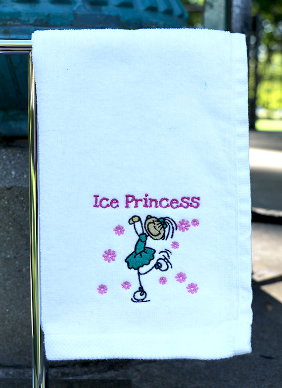 Ice Princess Skating Towel