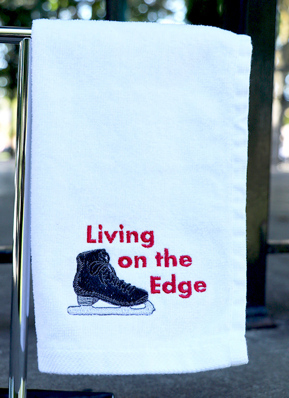 Living on the Edge Skating Towel