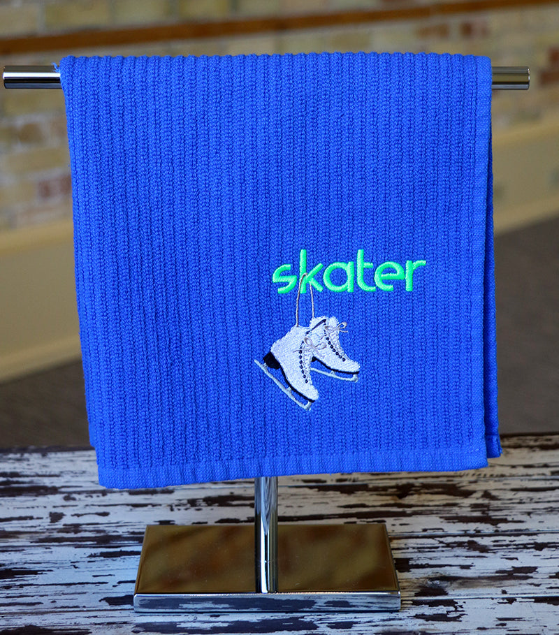 Hanging Skates Skating Towel