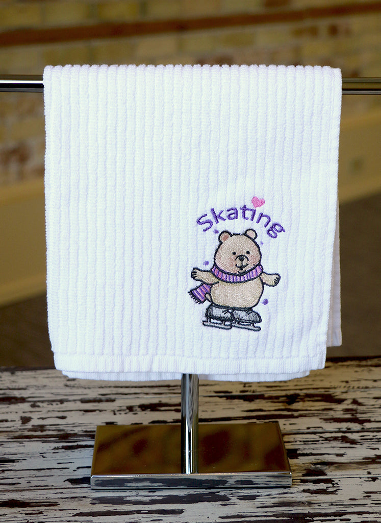 Skating Bear Skating Towel