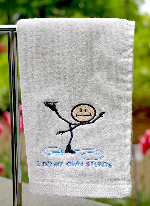 I Do My Own Stunts Skating Towel