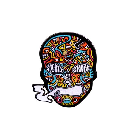 Steinman Smoking Skull Pin – Colorburst