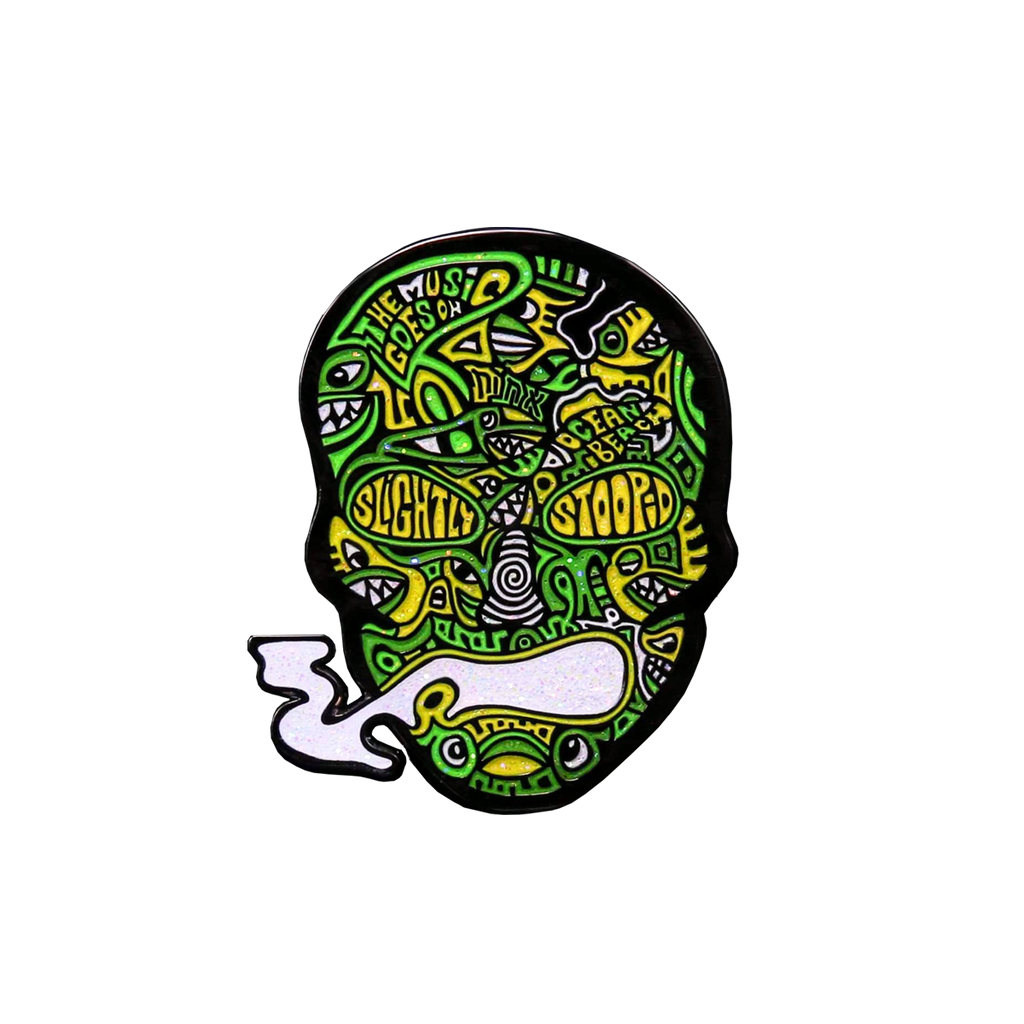Steinman Smoking Skull Pin