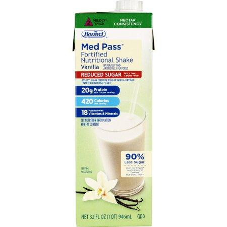 Med Pass 2.0 Oral Supplement Reduced Sugar Vanilla - Ready to Use 32 oz