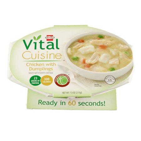 Hormel Vital Cuisine | Chicken and Dumplings Flavor Ready to Use 7.5 oz Bowl - Case of 7