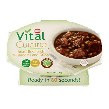 Hormel Vital Cuisine | Roast Beef with Mushrooms and Gravy Flavor Ready to Use 7.5 oz Bowl - Case of 7
