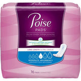 Poise Moderate Absorbency Pads - Long Length - CheapChux