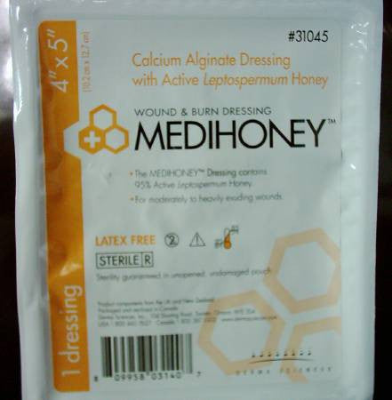 Medihoney Calcium Alginate Sheet Dressing 4x5 Sterile - CheapChux