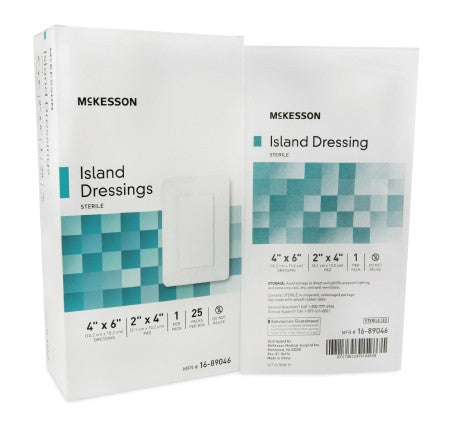 McKesson Island Dressing 4x6 Sterile box of 25 - CheapChux
