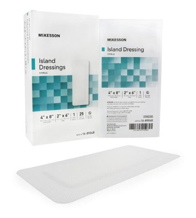 McKesson Island Dressing 4x8 Sterile box of 25 - CheapChux