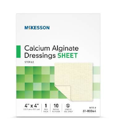 McKesson Calcium Alginate Sheet Dressing 4x4 Sterile box of 10 - CheapChux