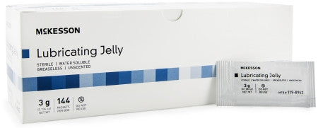 Lubricating Jelly McKesson 3g Packet Sterile - CheapChux