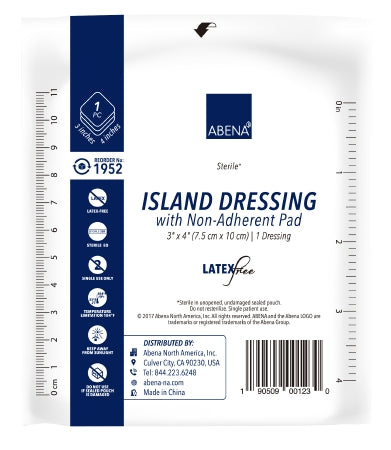 "Abena Island Dressing with Non Adherent Pad, Sterile 3"" x 4"" - CheapChux"