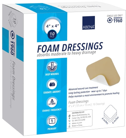 "Abena Foam Dressing 4""x4"" - CheapChux"