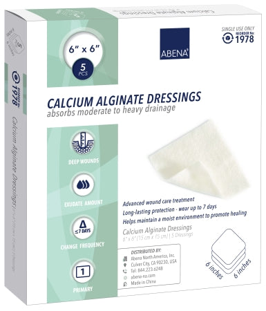 "Abena Calcium Alginate Dressing 6""x 6"" - CheapChux"