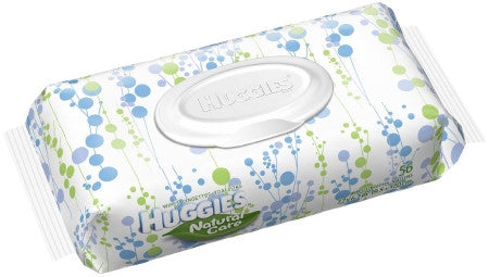 Baby Wipes Huggies Natural Care  Unscented Flip Top Soft Pack - CheapChux