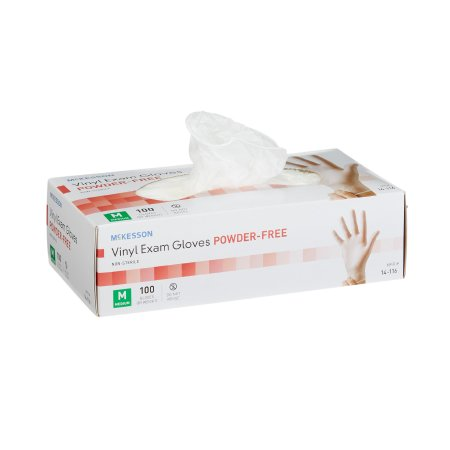McKesson Exam Gloves Vinyl Powder Free Nonsterile