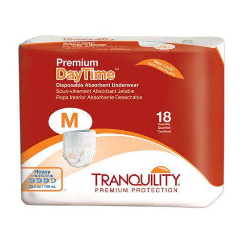 Tranquility Premium DayTime Disposable Absorbent Underwear - Adult Pull-ups - CheapChux