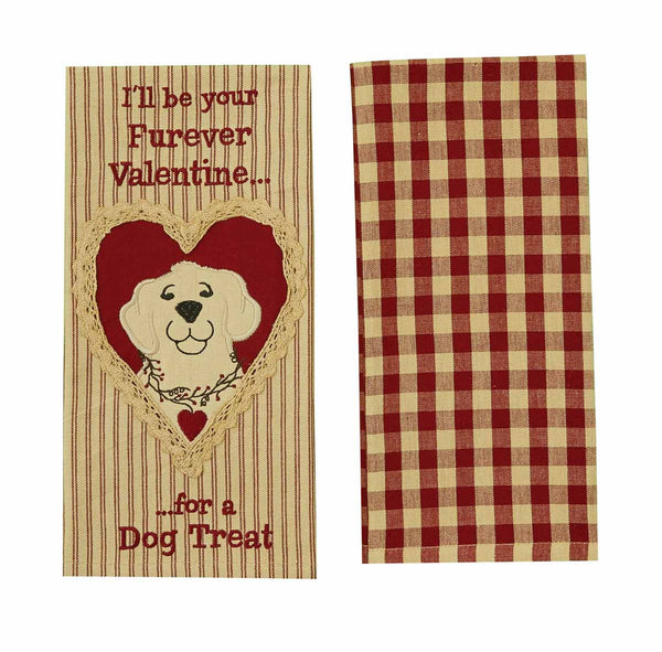 For a Dog Treat Embroidered Applique Dishtowel