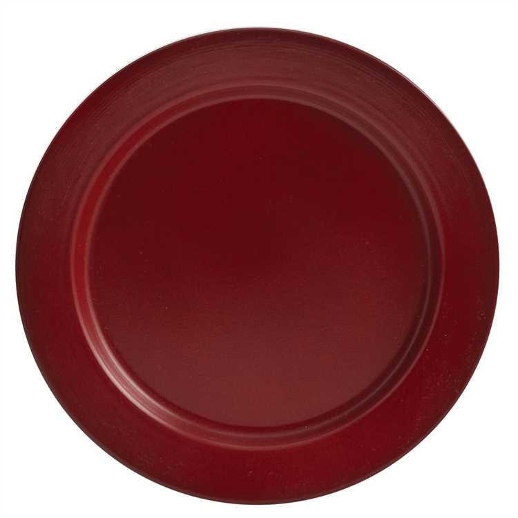Linville Enamel Dinner Plate - Red