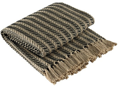 Cable Throw - Black & Tan
