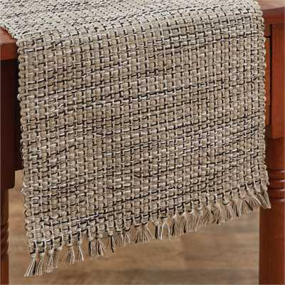 Basketweave Table Runner - Granite
