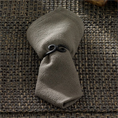 Tweed Napkin - Charcoal