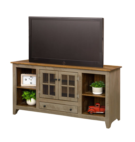 TV Stand-Glass Door Console